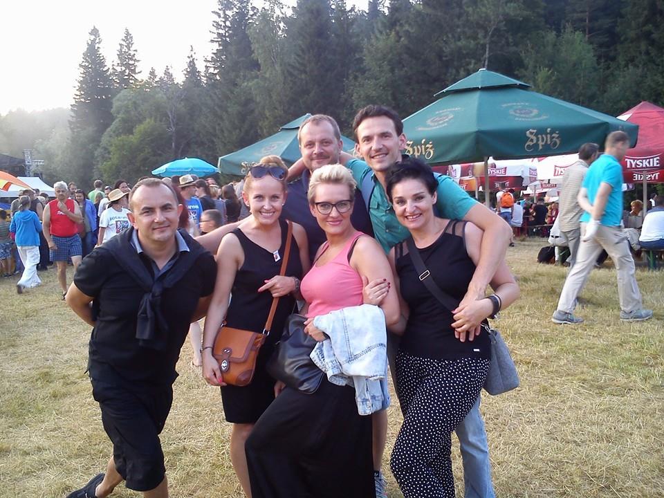 Z przyjaciółmi podczas Borowickich Spotkań z Poezją Śpiewaną. Lipiec 2014r.